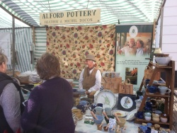Alford Pottery stall at Louth Market
