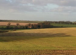 Lincolnshire Wolds with St Martin at Withcall near Louth showing