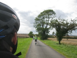 Our family cycling in the local country lanes