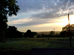 View to the East coast across our farmland at sunrise