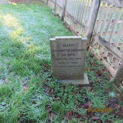 127. Ellen Elizabeth Hughes (nee Smith) died 15th July 1984 (71 years) In Christ I perish not, Umarked Ashes of Betram Sylvester died July 1991 (59 years)