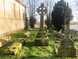 84. FELIX LAURENT Vicar of Saleby and for 19 years Curate of this parish died 13th April 1878 aged 84