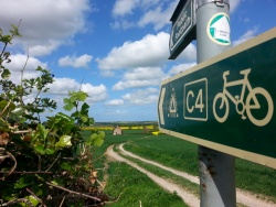 C4 cycle route crosses our farm