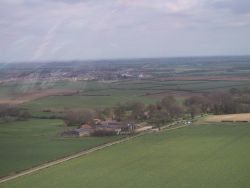 Rigsby from the air (Rigsby Wold Cottages are in the trees to the right of the picture)
