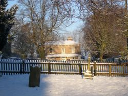 Rigsby House in the snow