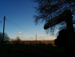 Footpath to Alford from our cottages at sunset