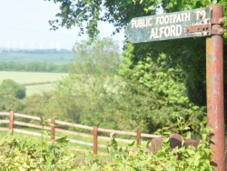 Alford footpath sign